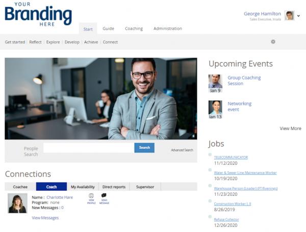 Career Management Software Dashboard